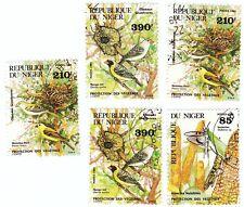 NIGER - Bustina 5 francobolli serie ANIMALI, UCCELLI