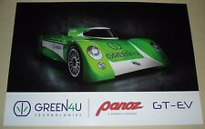 Le Mans 2017 WEC Green4U Panoz Racing GT-EV Prototype Glossy Specification Sheet
