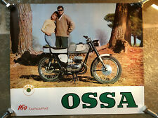 Promotional POSTER advertising OSSA 160 Turismo 1965 motorcycle barn find parts