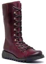 Fly London Ster Women Leather Matt Purple Calf Boots