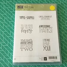 Stampin' Up!® Retired Yippee Skipped! Stamp Set Of 6 Clear Mount