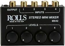 Rolls Mx42 4-Channel Passive Mini Stereo Mixer