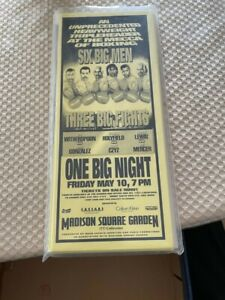 Madison Square Garden Boxing Advertising Flier May 10, 1996 - Holyfield