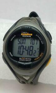 Timex Ironman Triathlon Model RSS 210- 584 HR Monitor Chrono - New Battery
