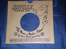 "SAVILLE PIANOS LTD (LONDON) - BESPOKE 1960s RECORD SLEEVE FOR 7"" SINGLE -EX COND"