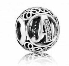 Genuine Pandora, Alphabet Letter Initial, Vintage A, Bracelet Charm NEW 791856CZ