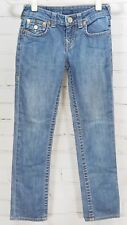 True Religion Julie Jeans Flap Pocket Little Girls Size 8 Medium Wash