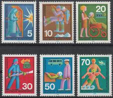 Bund 1970, Mi.Nr. 629 - 634, (No. 7102a), Postfrisch **