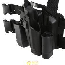 Tactical Leg Black Holster Paddle Thigh Belt Drop Pistol for Beretta Gun M9 M92