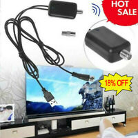 HDTV Antenna Amplifier Signal Booster Cable TV High Gain Channel Boost IndoorNEW