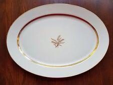 "Lenox Westfield Oval Platter 17"" Wheat Cream Gold Trim"