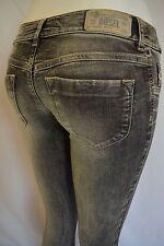 DIESEL LIVIER Skinny Slim JEGGING Jeans Woman SZ 27 IN 0602W LIGHT GREY BLACK