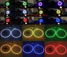 RGB Halo Rings For Jeep Wrangler JK TJ Headlight LED Angel Eyes Demon Devil DRL
