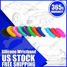 12 PCS Blank Color Silicone Wristband Rubber Bracelet Adults Size Pack