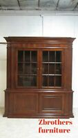 Ethan Allen Kentmere Viola China Cabinet Hutch Breakfront Display Monumental