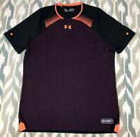 Under Armour Men's NFL COMBINE Compression Shirt Maroon Orange Size L / 2XL XXL