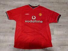 Manchester United Jaap Stam #6 2000 Football Shirt Mens MEDIUM