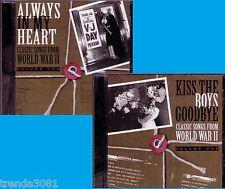 Classic Songs WWII 2 CD Lot Greatest 40s SHEP FIELDS SPIKE JONES SAMMY KAYE