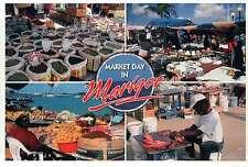 Market Day in Marigot, Saint Martin, St. Maarten, French West Indies -- Postcard