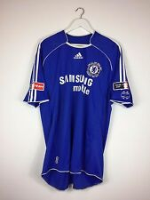 Chelsea DROGBA #11 2007 *FA CUP FINAL* Home Football Shirt (XL) Soccer Jersey