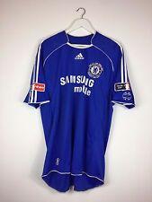 Chelsea Drogba #11 2007 * * FA Cup Final Hogar Camiseta de fútbol (XL) Camiseta De Fútbol