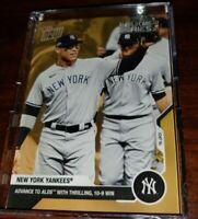 BONUS CARD advances to the ALDS 2020 New York Yankees TOPPS NOW® Postseason