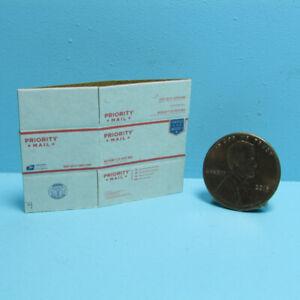 Dollhouse Miniature Cardboard Shipping USPS Priority Box Flat or Fold L4226