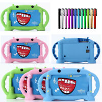 For Samsung Galaxy Tab 3 4 A E 7.0 Kids Child Silicone Stand Handle Case Cover