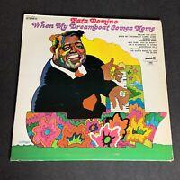 Fats Domino - When My Dreamboat Comes Home - RARE Vintage VINYL LP - VG