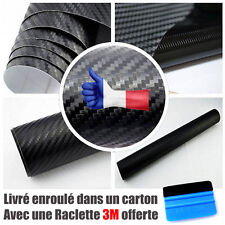 Carbone noir mat 3D  Film covering autocollant  thermoformable + raclette 3M