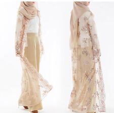 Dubai Lady Sequin Kimono Abaya Open Cardigan Long MaxiDress Muslim Kaftan Jilbab