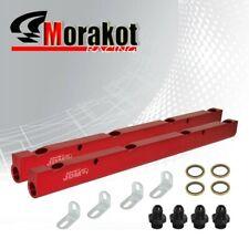 JdmSport GMC LS1 LS6 Z06 Engine Dual Aluminum Top Feed Fuel Rail Upgrade Kit Red