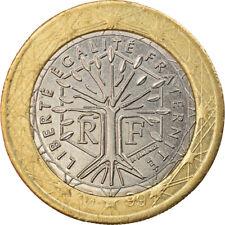 [#857536] France, 1 Euro, 1999, error wrong ring, SUP+, Bi-Metallic