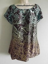 Marks & Spencer Autograph Silk Floral Dip Dye Top  Size 18 BNWT RRP £39.50