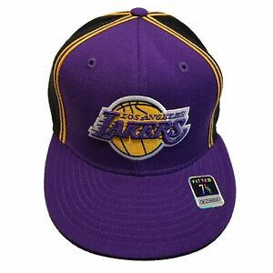 Los Angeles Lakers NBA Reebok Authentic Courtside Piping 7 1/8 Cap Hat $26