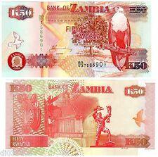 ZAMBIE Zambia Billet 50 Kwacha 2008 P37 AIGLE  NEUF UNC