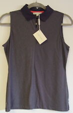 Fairway & Greene Ladies Sleeveless Polo Shirt Size Small Navy Blue NWT