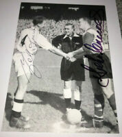 JOHN AND MEL CHARLES HAND SIGNED PHOTO COA LEEDS UNITED AUTOGRAPH WALES