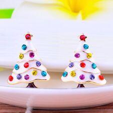 Girls Kids Christmas Gift Jewelry Christmas Pine Tree Ear Cuff Stud Earring