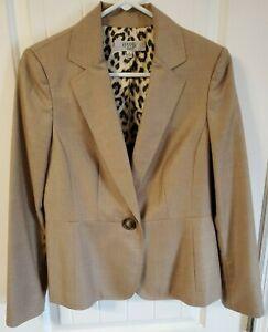 Women's Kasper Blazer Jacket Light brown Tan Size 8