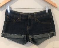 Volcom Sound Check Short Short Fit Jean Shorts Size 0 Waist 24