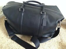 Nwt Coach Large Voyager 52 In Sport Leather Duffle Black Travel Bag $795