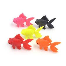 5 Pcs Cute Plastic Swimming Fake Goldfish Fish Tank Decor Aquarium Ornaments