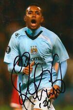 Manchester City Firmato a Mano ROBINHO 6x4 foto.