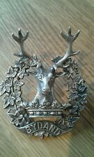 Stunning Hallmarked Silver WW2 Original Gordon Highlanders Cap Badge Dated 1943