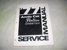 1977 ARTIC CAT PANTHER CHEETAH  SNOWMOBILE SERVICE MANUAL