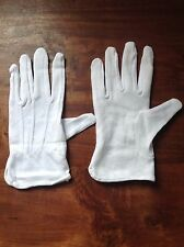 12 PAIRS SUPERTOUCH JEWELLERY ANTIQUES GLOVES WHITE COTTON MICRO DOTS SIZE 7