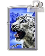 Zippo 7036 Mazzi Snow Leopard Lighter with PIPE INSERT PL