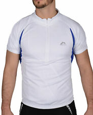 More Mile Summer Mens Cycling Jersey Half Zip Short Sleeve Bike Cycle Ride Top