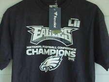 NEW NFL PRO LINE PHILADELPHIA EAGLES NFC CHAMPIONS SB LII BLACK T-SHIRT  SIZE MED 52c126fee